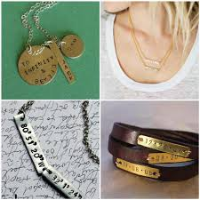 Stamped Jewelry Make Personalized Metal Stamped Jewelry For Mom Nunn Design