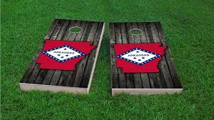 of arkansas cus map wood slate state flag map arkansas themed custom