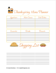 free printable thanksgiving menu planner thanksgiving menu planner