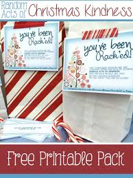 random acts of christmas kindness printables free printables