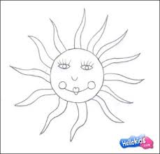 how to draw how to draw a sun hellokids com