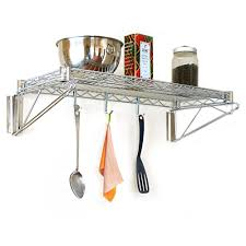 Kitchen Shelving Units by Stainless Steel Wall Mounted Kitchen Wire Shelving Units With