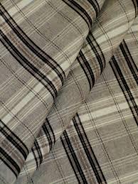 plaid home decor fabric edgar pattern beringer color greystone black gray and white plaid