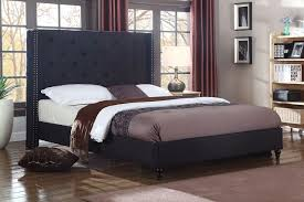 King Platform Bed With Upholstered Headboard by Platform Bed Frame Upholstered Headboard Black Queen King Twin