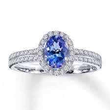 tanzanite rings from images Jared tanzanite ring oval cut with diamonds 14k white gold jpg