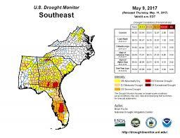 Usa Drought Map by Water At Uga Drought Monitor May 9 2017