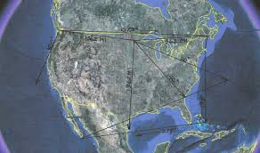 Ley Lines Map Usa by Newport Tower Mystery Solved