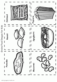 cartoon food coloring pages grains