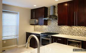 Kitchen Cabinet Tiles Brown Beige Glass Metal Mix Backsplash Tile Backsplash Com