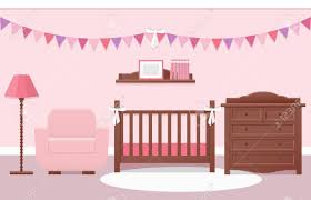 Cot Changing Table Baby Room Interior With White Cot And Changing Table For