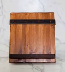 Salvaged Wood by Reclaimed Wood Tablet And Cookbook Holder With Salvaged Leather