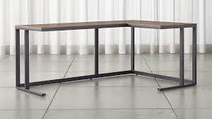 Crate And Barrel Floor Lamps Pilsen Graphite Corner Desk With Walnut Top Crate And Barrel