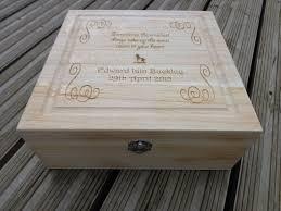engraved memory box personalised engraved wooden keepsake memory box christening new