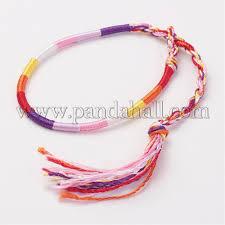 bracelet braid thread images Wholesale braided silk thread bracelets colorful 11 1 4 quot 285mm jpg