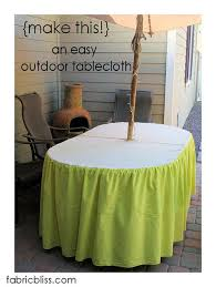 tablecloth for patio table with umbrella 7 ways to make umbrella holes the bright ideas blog