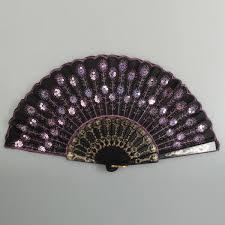 black lace fan black lace fan with pink sequins alex nld