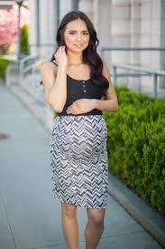 maternity skirt black and white zig zag skirt maternity skirt