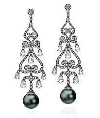and pearl chandelier earrings tahitian pearl chandelier earrings cellini jewelers
