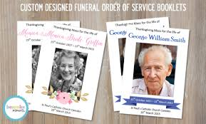 funeral booklets funeral order of service booklets