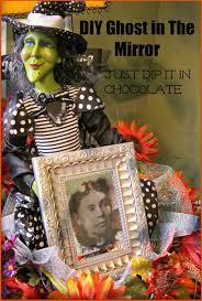 just dip it in chocolate diy halloween ghost in the mirror