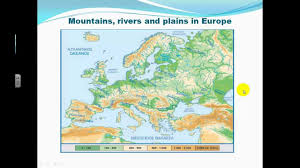 Physical Map Of Europe Rivers by Rivers Of Europe Youtube