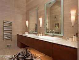 Bathroom Mirrors Bathroom Traditional With Wall Lights Round - Bathroom mirror and lights