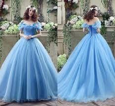wedding gowns cinderella wedding dresses gown blue organza princess