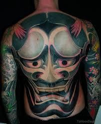 hannya mask samurai tattoo 83 dark and mysterious mask tattoos on back