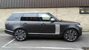 wrapped range rover range rover wrapped in our exclusive pwf diamond matt black