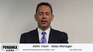 lexus parts manager abtin vaziri sales manager youtube