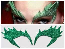 bane mask spirit halloween poison ivy leaf eyebrow extreme glitter eye mask costume