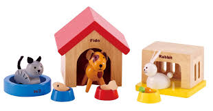 amazon com hape family pets wooden doll house animals toys u0026 games