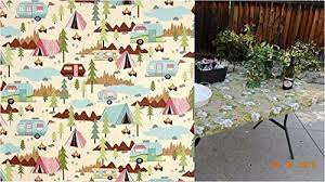 stay put table covers amazon com custom fitted stay put table cover for trailer travel rv