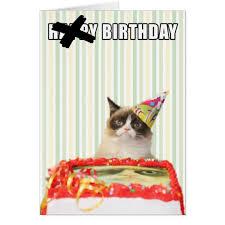 Cat Birthday Cards Grumpy Cat Happy Birthday Card Zazzle Com