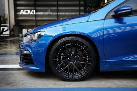 volkswagen scirocco r modified vw scirocco adv8 m v2 sl wheels in matte black adv 1 wheels