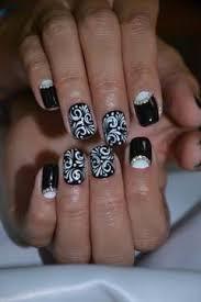 black and white nail for nails nail designs
