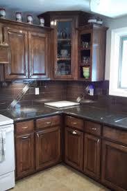 Dark Wood Kitchen Cabinets  Traditional Dark Wood Black - Kitchen backsplash ideas with dark oak cabinets