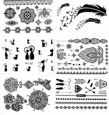 bracelet designs tattoo images Henna tattoo 6 sheets body paints temporary tattoo designs jpg