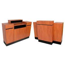 Standing Reception Desk Collins Reve Cherry Standing Reception Desk At Cosmoprof