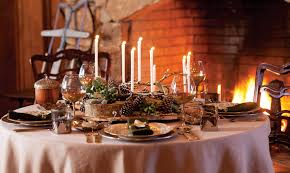 woodland inspired winter table setting