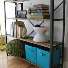 Reclaimed Wood And Metal Bookcase Furniture Handmade Reclaimed Wood And Metal Bookcase For