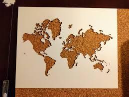 World Map Cork Board by Delanie Ricketts Maps
