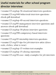 after school study top 8 after school program director resume sles