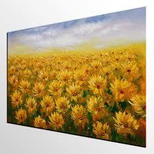 Wall Art Paintings For Living Room Living Room Wall Art Sunflower Painting Original Wall Art