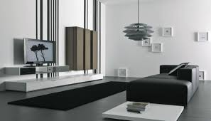 living room modern black white grey living room decoration