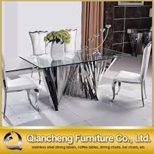 stainless steel dining room tables stainless steel dining room table createfullcircle com