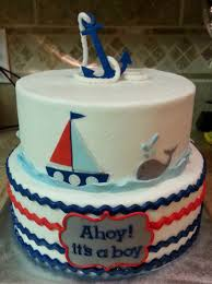 anchor baby shower ideas nautical baby shower cake ideas delicious taste amicusenergy
