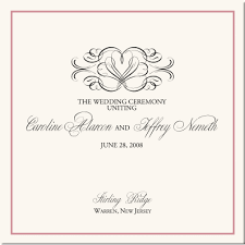 wedding program cover flourish heart wedding program exles wedding program wording