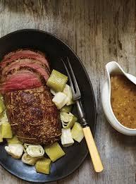 la cuisine de ricardo recette de ricardo de rôti de veau à la moutarde et aux poireaux