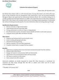 Resume For Volunteer Work Sample by Resume Volunteer Work Experience Sample Resume Template